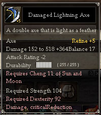 Damaged Lightning Axe