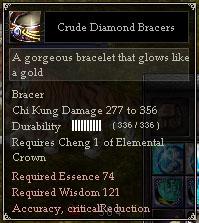 Crude Diamond Bracers