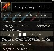 Damaged Dragon Gloves