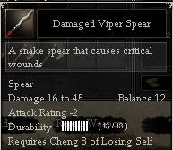 Damaged Viper Spear
