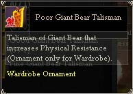 Poor Giant Bear Talisman