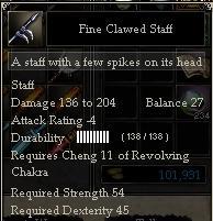 Fine Clawed Staff