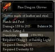 Fine Dragon Gloves