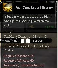 Fine Twin-headed Bracers