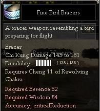 Fine Bird Bracers