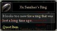 Xu Sanzhaos Ring