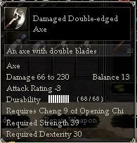 Damaged Double-edged Axe