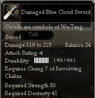 Damaged Blue Cloud Sword