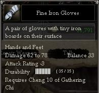 Fine Iron Gloves