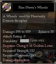 Fine Nuwa's Wheels