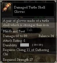 Damaged Turtle Shell Gloves
