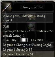 Hexagonal Staff