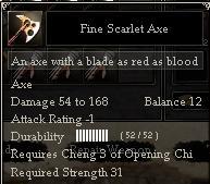 Fine Scarlet Axe