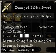 Damaged Golden Sword