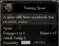 Training Spear