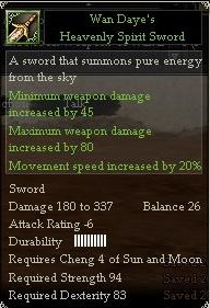 Wan Daye's Heavenly Spirit Sword