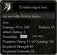 Double-edged Axe