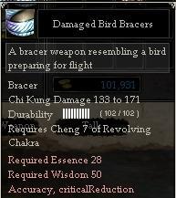 Damaged Bird Bracers