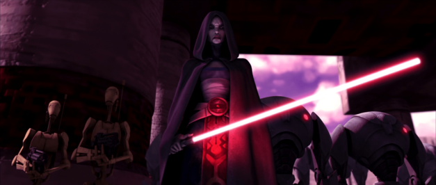 ventress on teth star wars clone wars