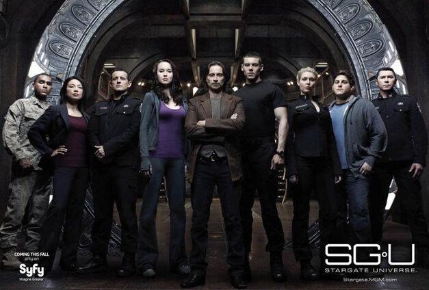 Stargate Universe cast promotional image