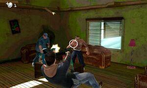 John disparando