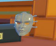 Vampire mask in air