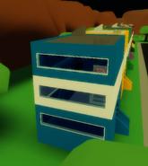Blue building easter egg