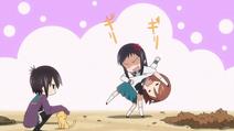 Yutaka and Miho quarrel