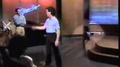 """A Chorus Line on Geraldo, 1990, """"I Can Do That"""", Matthew Petersen"""