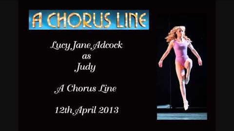 Lucy Jane Adcock as Judy (Little Brat onwards till Greg's part) - A Chorus Line