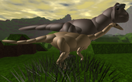 Adult Carno and Adult Gallimimus