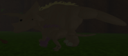 Adult Struthiomimus and Adult Triceratops