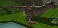 Carnotaurus eating corpse