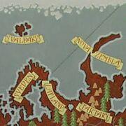 Détail Carte Svalbard et Laponie