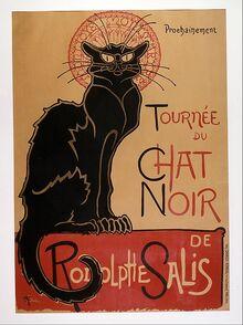 448px-Théophile-Alexandre Steinlen - Tournée du Chat Noir de Rodolphe Salis (Tour of Rodolphe Salis' Chat Noir) - Google Art P