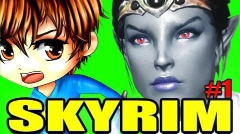 Let's Play A SKYRIM Tale! Ep. 1 - Vahl The Dark Elf!-1