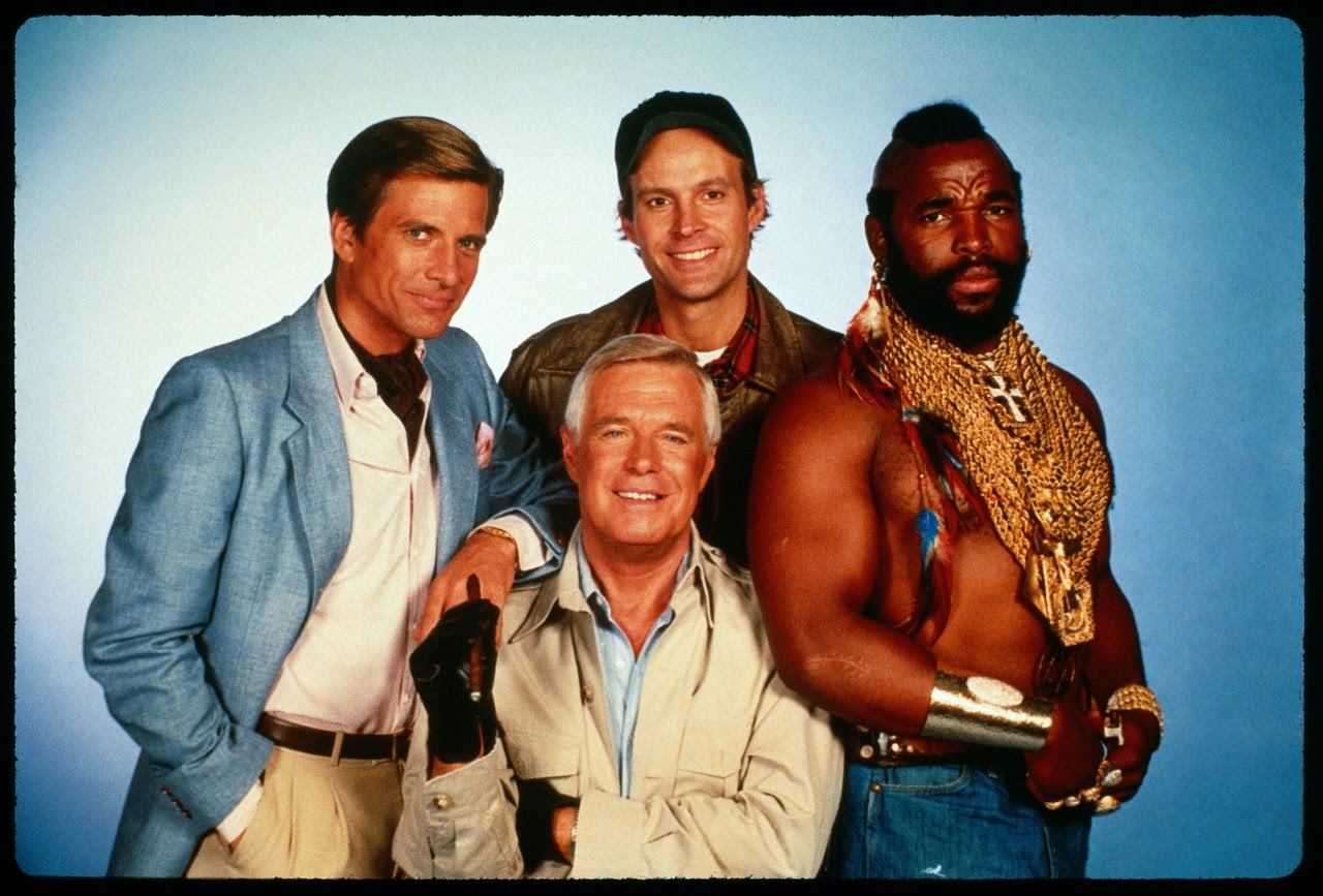 The A Team Cast Mr T George Peppard Dwight Schultz Dirk Bendict