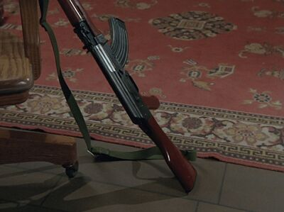 Type 56 against chair