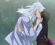 Banya and Lee So-Yoon kiss
