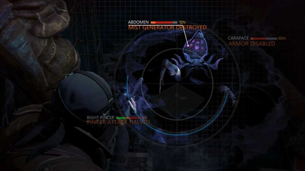 Aiming at different enemy parts in Phoenix Point