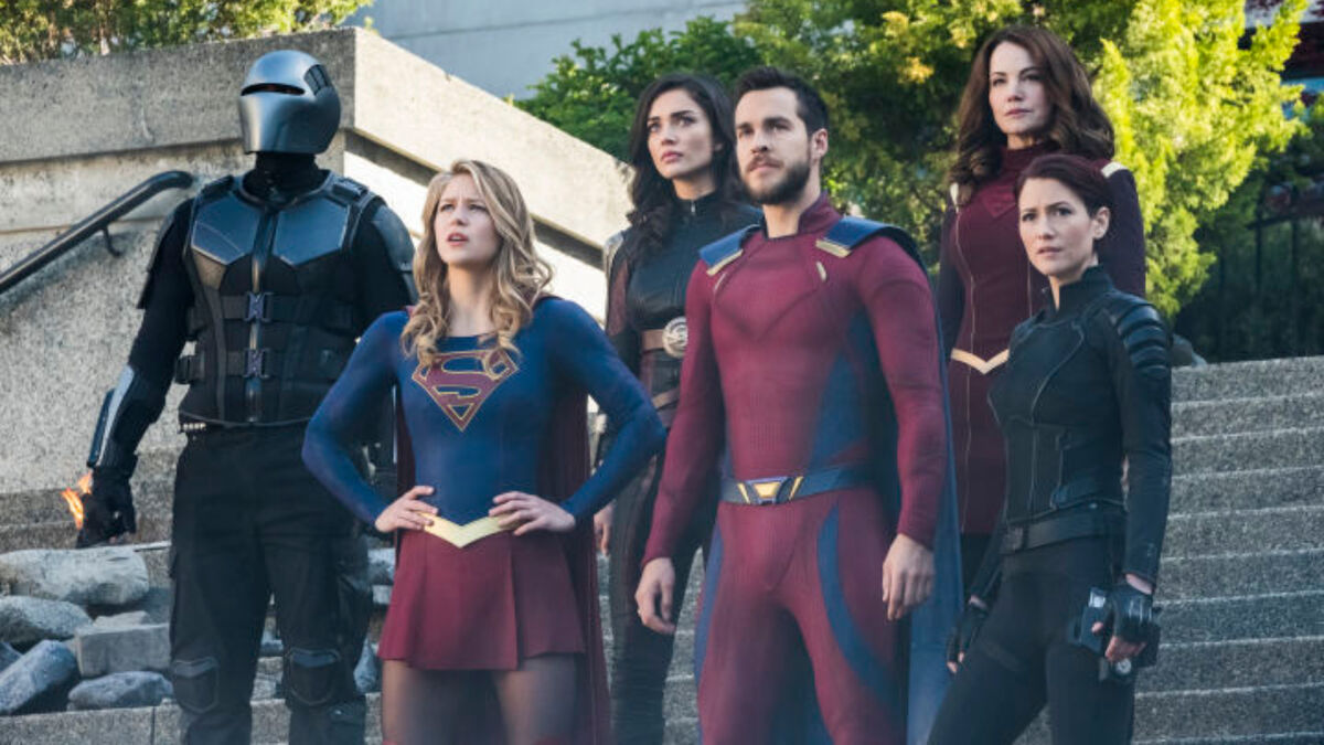 Supergirl cast in the season 3 finale