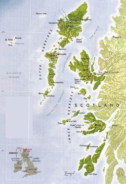 Hebrides map