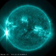 X4-9-solar-flare-feb-25-gmt-teal