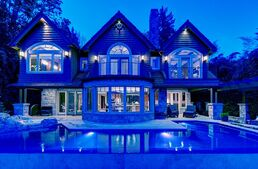 Front mansion at night