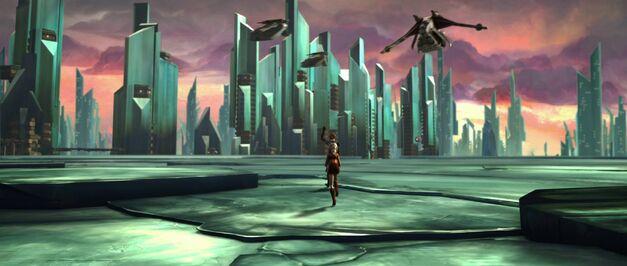 Star Wars saga planet Christophsis-Crystal-City
