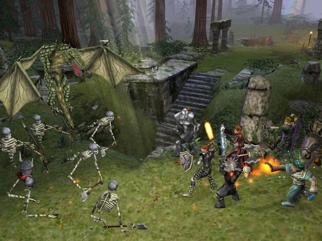 A screenshot of Dungeon Siege for PC.