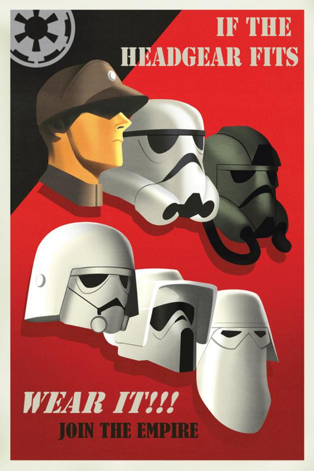 Star Wars propaganda poster If the Headgear Fits