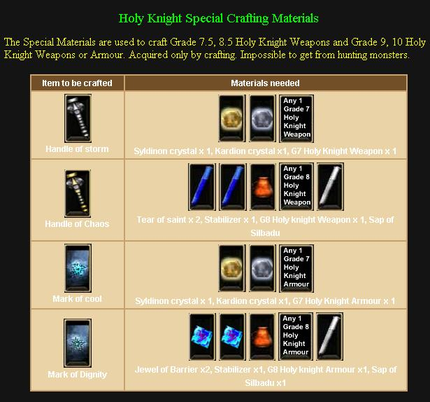 Hk special crafting