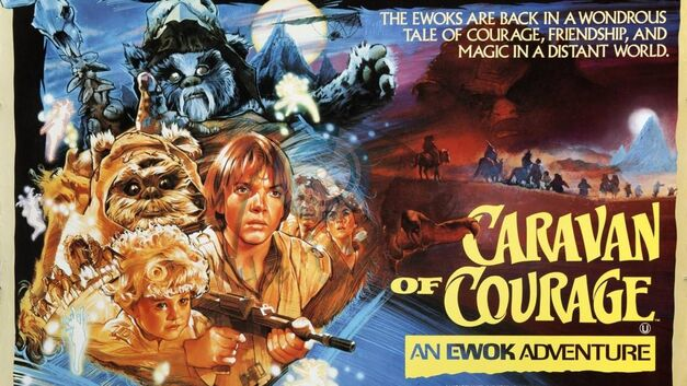star wars ewoks caravan of courage poster