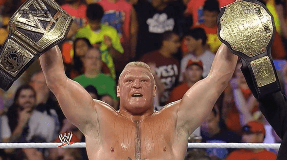 Can you imagine Brock as a dual champion